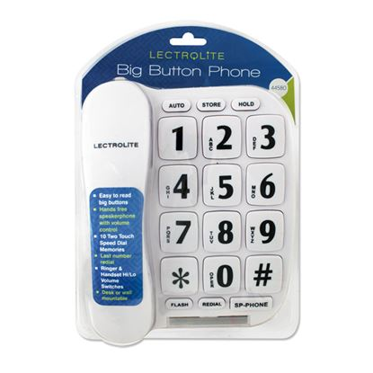 Picture of Lectrolite Jumbo Button Phone White