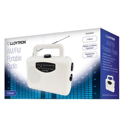 Picture of Lloytron AMFM Portable Radio Battery Operated Mains