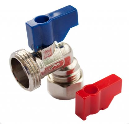 Picture of Oracstar Angled Valve HotCold 15mm x 34 BSP