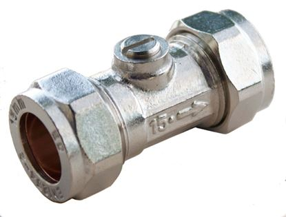 Picture of Oracstar Compression Isolating Valve Slotted 15 x 15mm Chrome
