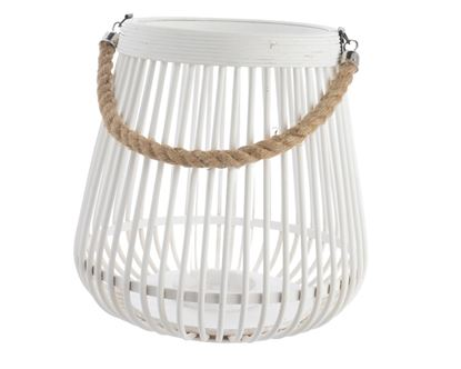 Picture of Kaemingk Bamboo Lantern With Rope Handle 28x27