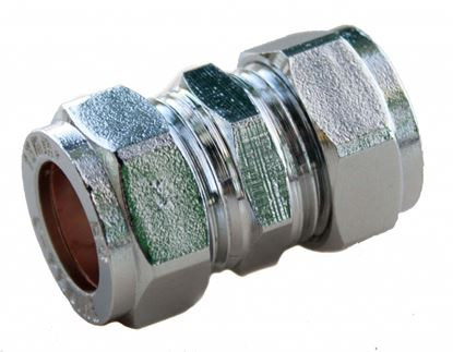 Picture of Oracstar Compression Straight Connector 15mm x 15mm Chrome