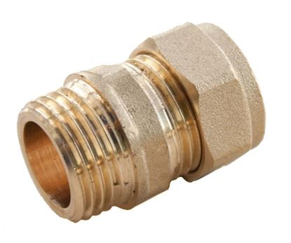 Picture of Oracstar Compression Straight Connector - Male 15mm x 12 MI