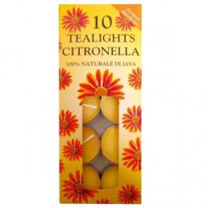 Picture of Prices Candles Tealights 10 Pack Citronella