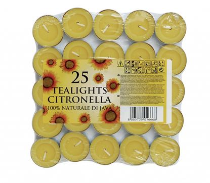 Picture of Prices Candles Tealights Pack 25 Citronella