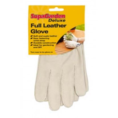 Picture of SupaGarden Deluxe Full Leather Gloves Medium
