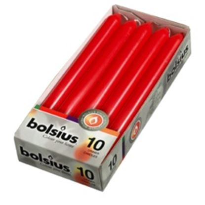 Picture of Bolsius Dinner Candles Box 10 Red