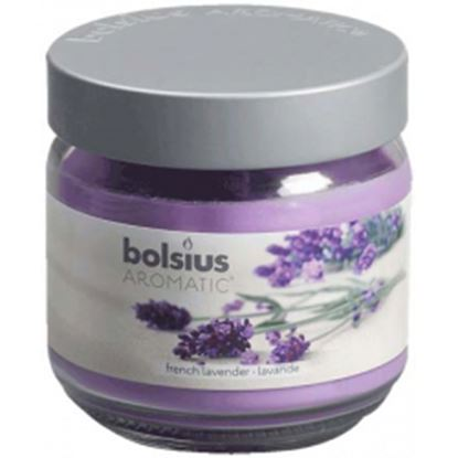 Picture of Bolsius Filled Glass Candle With Scent And Lid Lavender - Large