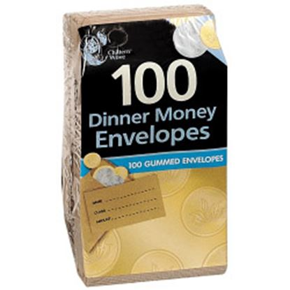 Picture of Chiltern Wove Dinner Money Envelopes 100 Pack