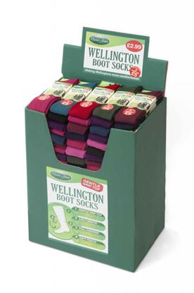 Picture of David James Ladies Wellington Boot Socks