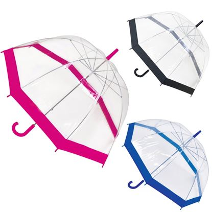 Picture of Drizzles Ladies Dome Umbrella Purple Silver Pink Black