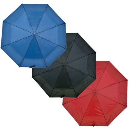 Picture of Drizzles Wood Handle Supermini Umbrella Black Navy Burgundy