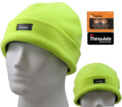 Picture of Fordville Mens Thinsulate Beanie Hi Viz