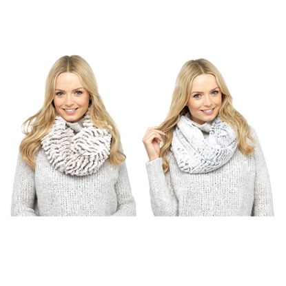 Picture of Foxbury Ladies Soft Snood Grey  BrownCream
