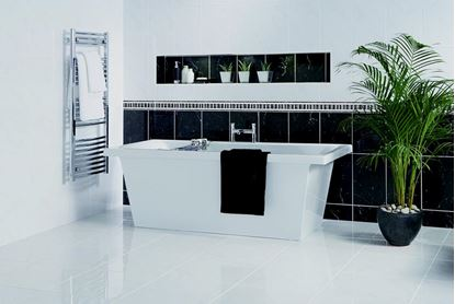Picture of British Ceramic Tile Elgin Marbles Black Field 248x398mm  Black