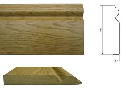 Picture of Flooring Accessories MDF Taurus Skirting - Oak 2.40m x 118mm x 15mm