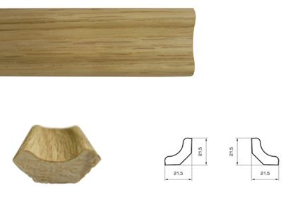 Picture of Flooring Accessories Veneered Oak Scotia 22mm x 2.50m