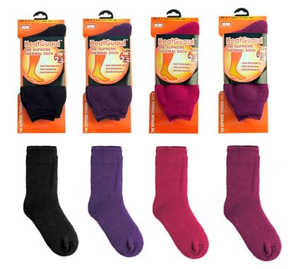 Picture of Heatguard Superwarm Socks Womens UK 4-7