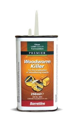 Picture of Barrettine Solvent Woodworm Killer 250ml