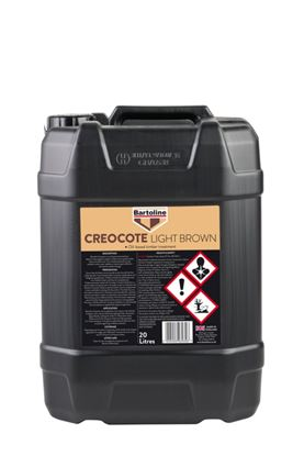 Picture of Bartoline Creocote Oil Based Wood Treatment 20L Light Brown