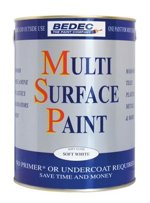 Picture of Bedec Multi Surface Paint Satin 750ml Soft White