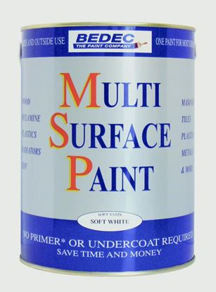 Picture of Bedec Soft Gloss Multi Surface Paint 5Lt White
