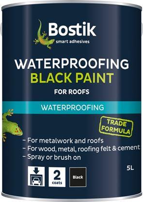 Picture of Bostik Bituminous Black Paint Black Paint 5L