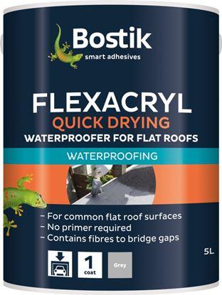 Picture of Bostik Flexacryl Waterproofer Solvent Free 5L Grey