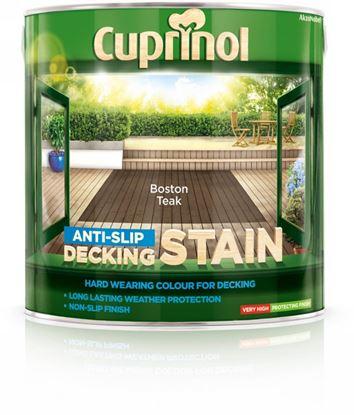 Picture of Cuprinol Anti Slip Decking Stain 2.5L Boston Teak