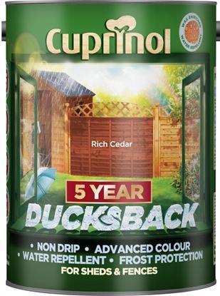 Picture of Cuprinol Ducksback 5L Rich Cedar