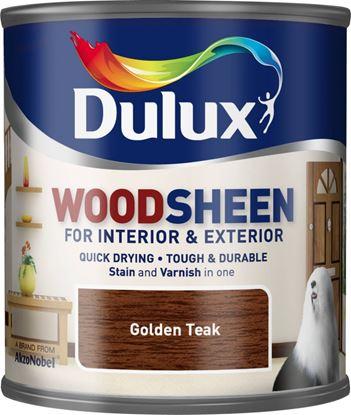 Picture of Dulux Woodsheen 250ml Golden Teak