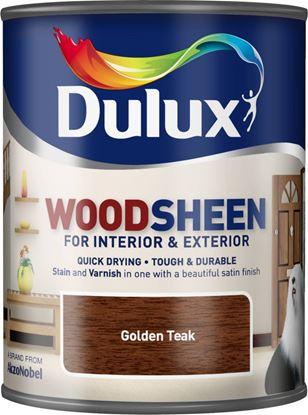 Picture of Dulux Woodsheen 750ml Golden Teak