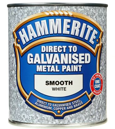 Picture of Hammerite Direct To Galvanised Metal Paint 750ml White