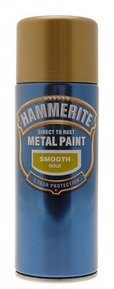 Picture of Hammerite Metal Paint 400ml Aerosol Smooth Gold