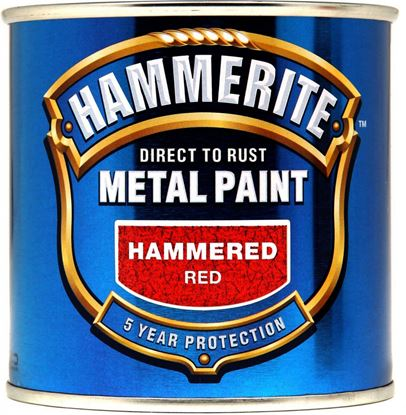 Picture of Hammerite Metal Paint Hammered 250ml Red
