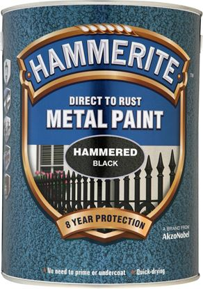Picture of Hammerite Metal Paint Hammered 5L Black