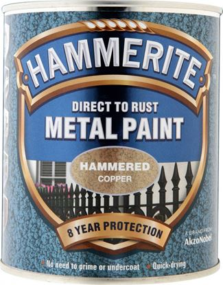 Picture of Hammerite Metal Paint Hammered 750ml Copper