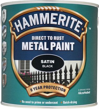 Picture of Hammerite Metal Paint Satin 2.5L Black