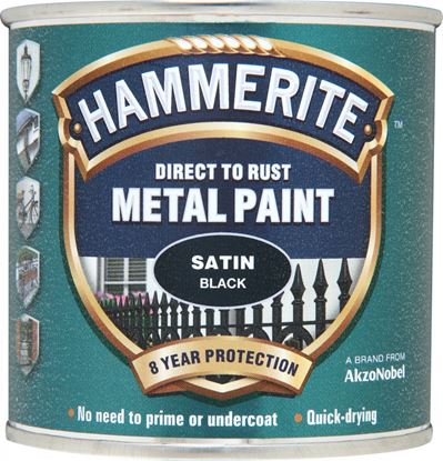 Picture of Hammerite Metal Paint Satin 250ml Black