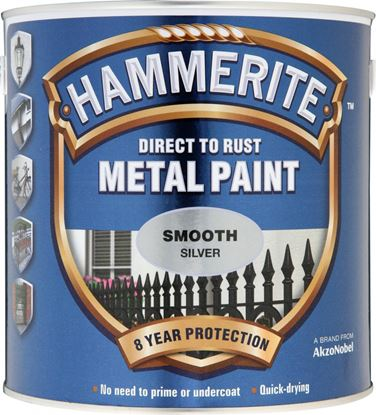 Picture of Hammerite Metal Paint Smooth 2.5L Silver