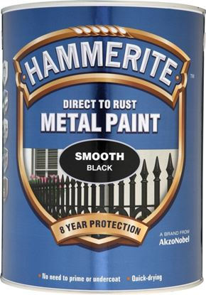 Picture of Hammerite Metal Paint Smooth 5L Black