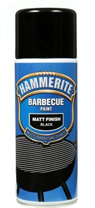 Picture of Hammerite Barbecue Paint 400ml Aerosol Matt Black