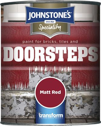 Picture of Johnstones BrickTile  Step Paint 750ml Matt Red