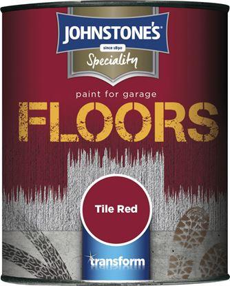Picture of Johnstones Garage Floor Paint Semi Gloss 250ml Tile Red