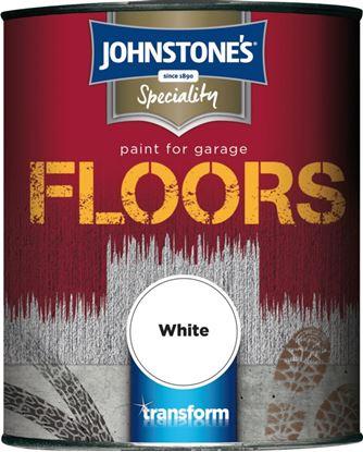 Picture of Johnstones Garage Floor Paint Semi Gloss 750ml White