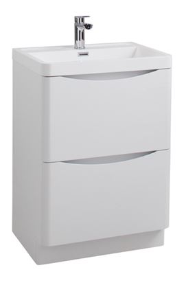 Picture of Cassellie Bali White Ash Floor Standing Cabinet  Basin 600mm