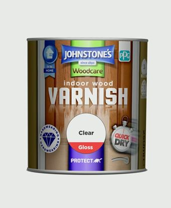 Picture of Johnstones Indoor Wood Varnish Gloss 250ml Clear