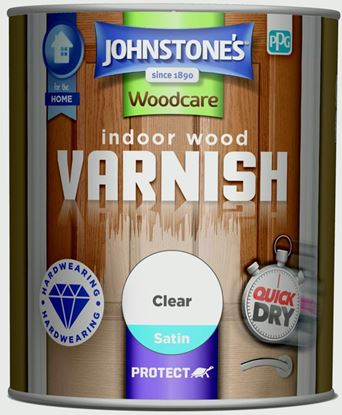 Picture of Johnstones Indoor Wood Varnish Satin 750ml Clear