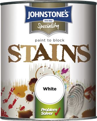 Picture of Johnstones Paint To Block Stains 750ml White