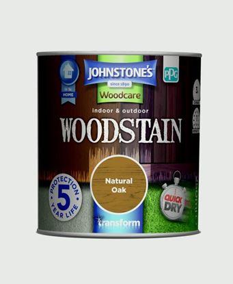 Picture of Johnstones Indoor  Outdoor Woodstain 250ml Natural Oak